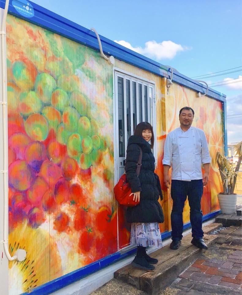 壁画を描いた陸前高田へ